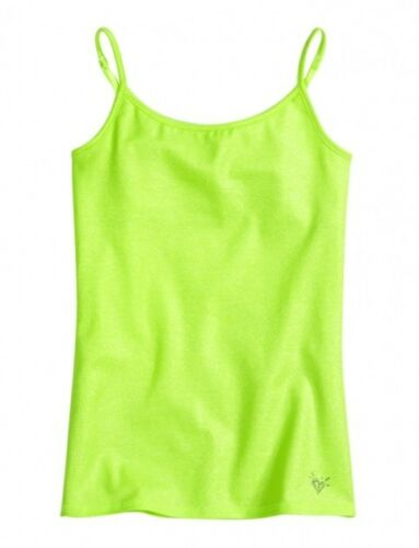NWT Justice Girls Neon Lime Allover Foil Glitter Cami Tank Top Tee U Pick NEW
