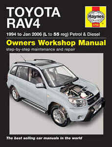 toyota rav4 repair manual haynes manual workshop service manual 1994 rh ebay com manual transmission toyota rav4 manual toyota rav4 2014