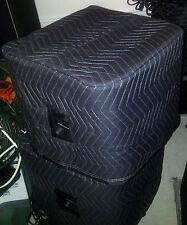 EV ZxA1 SUB  Premium Padded Black Speaker Covers - (2)  Quantity of 1 = 1 Pair!
