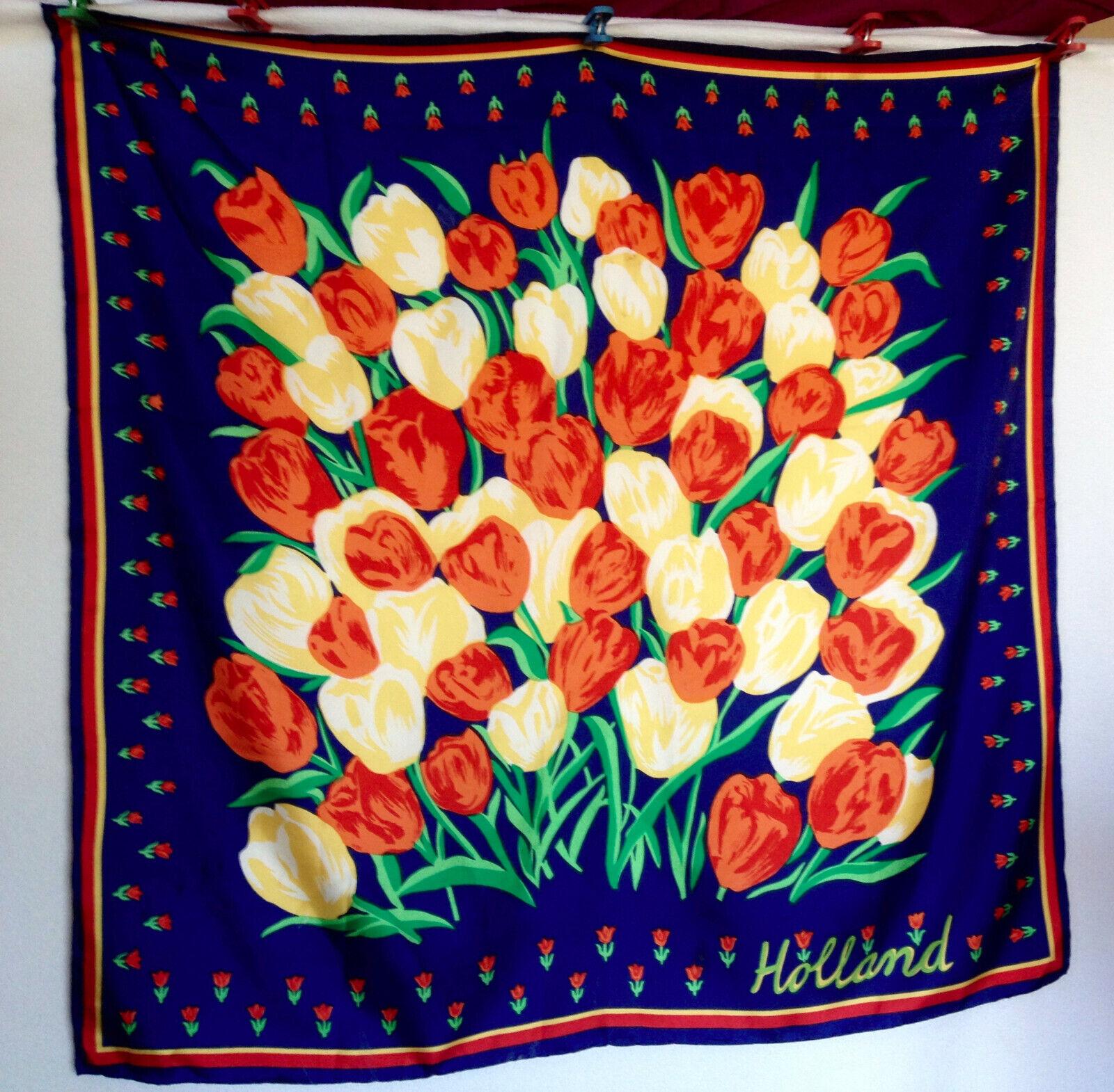 Holland Tulip Print Women's Scarf - image 1
