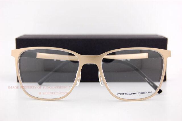 79e70fa5f80 New Porsche Design Eyeglass Frames P8275 B Matte Gold Made in Japan SZ 55