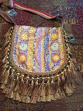 handmade ethnic sun moon purse bag hippie mosaic tribal festival boho mystical