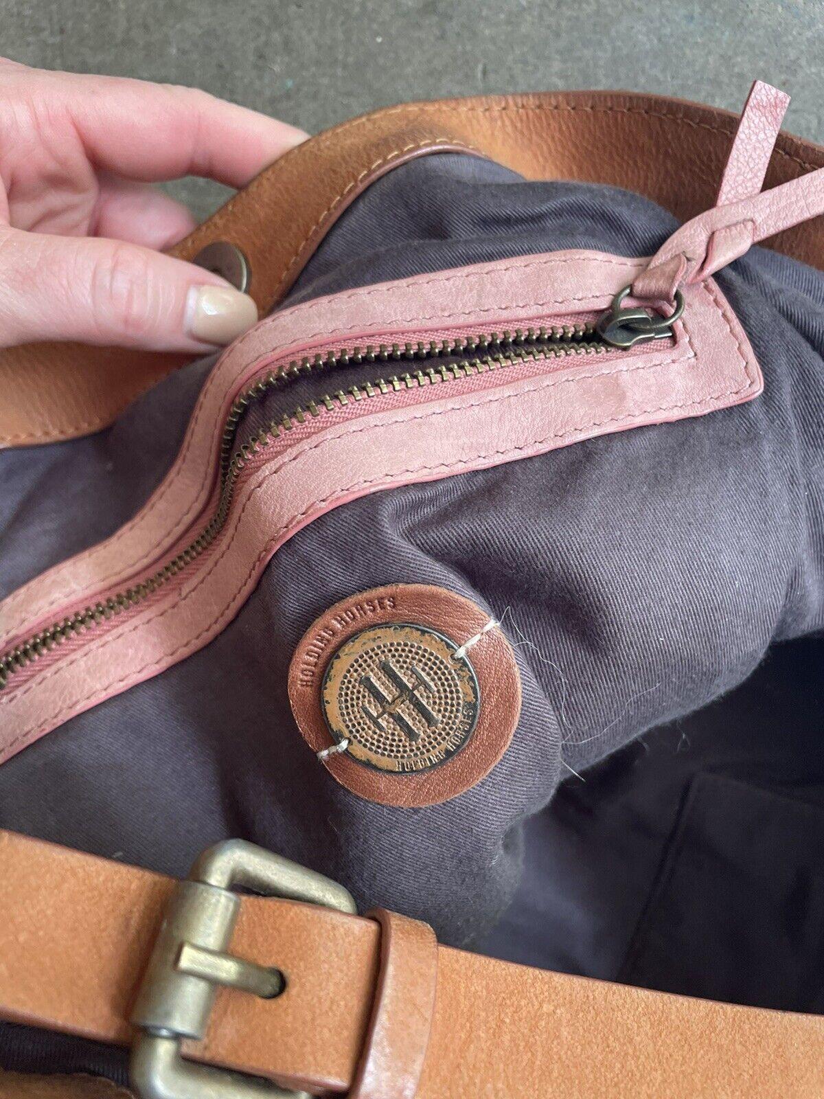 holding horses Leather Dusty Pink bag - image 2