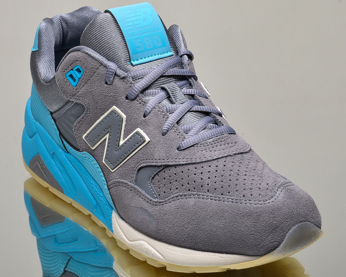 New Balance 580 de NB nb580 hombres estilo de 580 vida casual zapatillas nueva gris azul fc656c