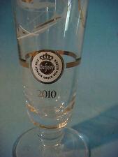 Beer Glass ~  Warsteiner Premium Bier Soccer-Football Design - Warstein Germany