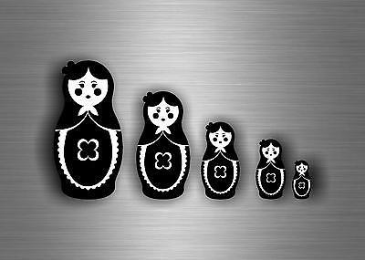 5x Sticker decals auto motorcycle jdm bomb russian russia dolls matryoshka r2