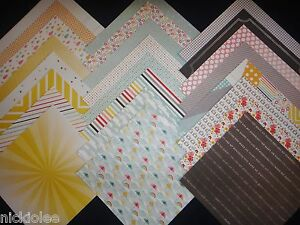 12x12 Scrapbook Paper Cardstock Glitter dots  24 Lot