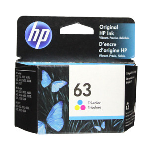 HP #63 Color Ink Cartridge 63 F6U61AN NEW GENUINE