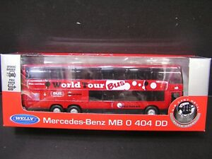 Welly-1-64-Daimiler-Mercedes-Benz-MB-0-404-DD-World-Tour-Bus-DieCast-Bus