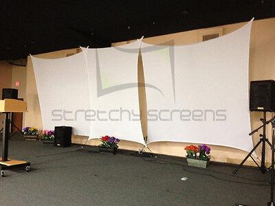 RECTANGLE STRETCH SCREEN, SPANDEX BACKDROP, 7' X 10' - StretchyScreens.com