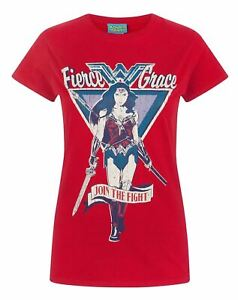 Wonder-Woman-Join-The-Fight-Women-039-s-T-Shirt