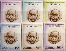ZAIRE CONGO KINSHASA 1980 640-45 Albert Einstein Physiker Physician Science MNH