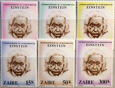 ZAIRE CONGO KINSHASA 1980 640-45 Albert Einstein Physiker Physician Science MNH