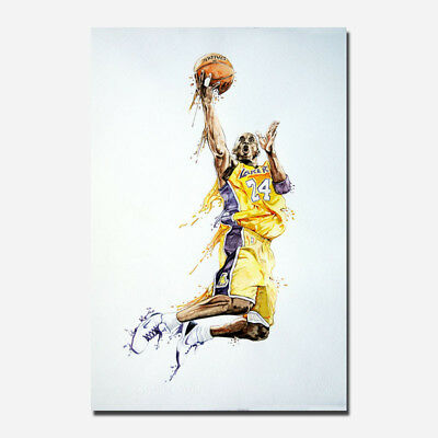 Superstar Kobe Bryant Dunk Silk Poster Art Print 13x20 24x36inch 033