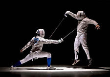 Framed Print - Fencing/Sword Fighting (Picture Poster Olympic Combat Sport Art)