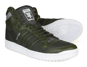 ginnastica Adidas verde B35374 Originals dieci pelle scuro invernale scarpe in da Top 0PHBrqn0