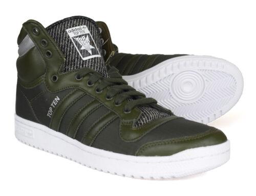 Adidas Top in scarpe pelle verde dieci da Originals ginnastica B35374 invernale scuro 55qwXr8