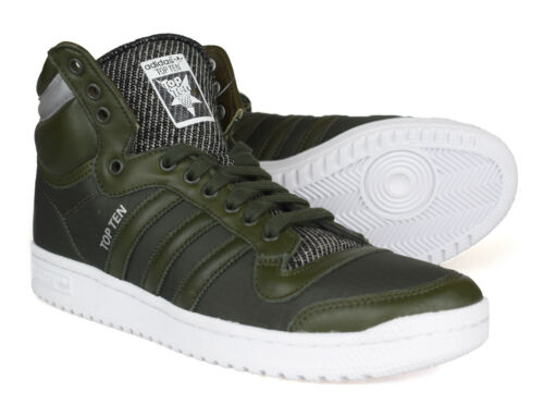 Originals verde da dieci ginnastica invernale in Top scuro pelle scarpe B35374 Adidas fExZnqdAf