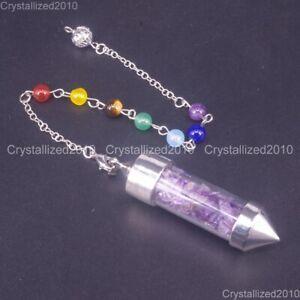 Piedras-preciosas-naturales-que-deseen-Pendulo-senalo-Reiki-Chakras-Chip-Perlas-Colgante