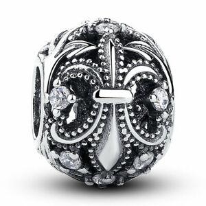 1e4d2bceb Fleur-De-Lis Original Charm 925 Sterling Silver beads Pandora Charm ...