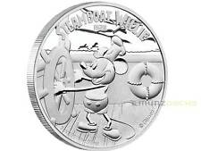 2 $ Dollar Disney Steamboat Willie Mickey Mouse Niue Island 1 oz Silber PP 2014