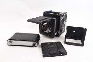RARE-Rittreck-Optika-Model-IIA-Medium-Format-Camera-10-5cm-Lens-PARTS-REPAIR-RA9