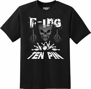 Funny-F-ing-Ten-Pin-Bowling-Sports-T-Shirt-New-Graphic-Tee