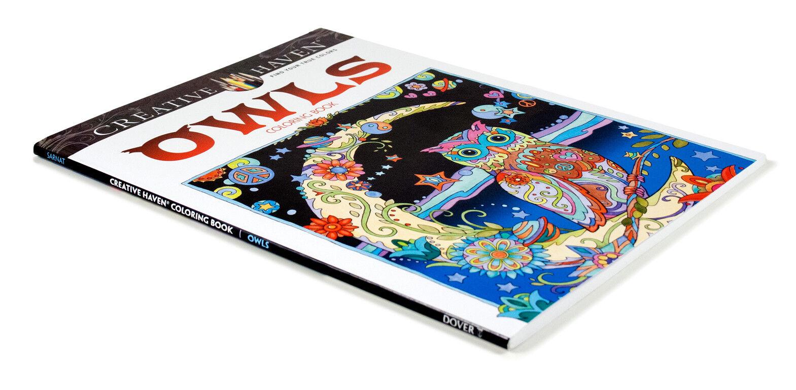 Creative Haven Owls Coloring Book By Marjorie Sarnat Paperback
