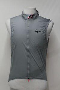 RAPHA-Men-039-s-Gilet-Archive-Pro-Team-Lightweight-Cycling-Gilet-Grey-Small-BNWT