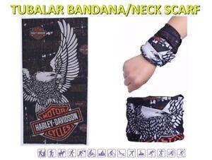 Tube-Bandanna-Seamless-Face-Mask-Scarf-Microfiber-Harley-Biker-Eagle-QA5