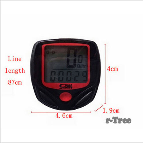 Bonne qualité Vélo Ordinateur Odomètre Compteur de Vitesse Vélo Cycle Mtb Vélo BMX