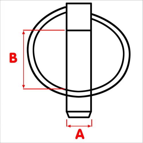 Klappstecker 11 x 36,5 mm Sicherungssplint Klappsplinte Klappbar NEU