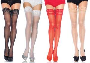 d58b5b642828e Plus Size Sheer LACE TOP STOCKINGS THIGH stretches 26