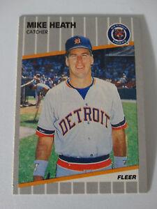 Details About 1989 Fleer Mike Heath Detroit Tigers Wrong Back Tom Brookens Error Baseball Card