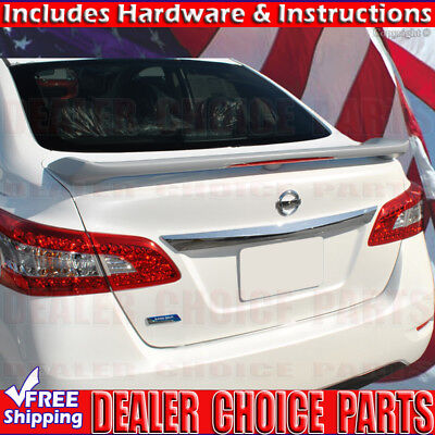 For 2013-2018 Nissan Sentra Factory JDM Style Spoiler Wing w//LED PRIMER