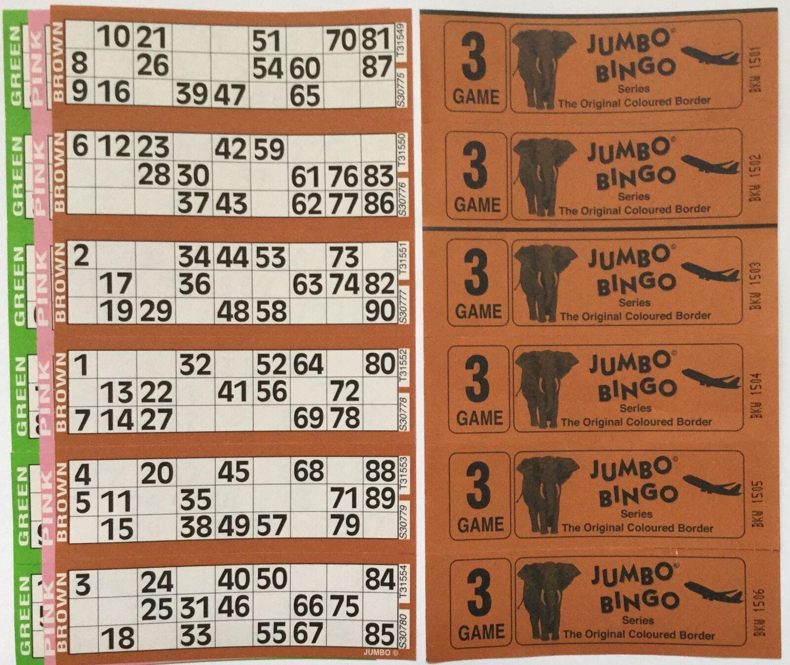 3000 juegos de 3 páginas páginas páginas Jumbo Bingo entradas 6 para ver Jumbo Bingo Books 5321c0