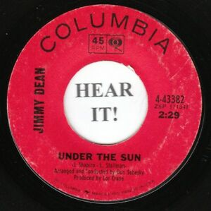 Details about Jimmy Dean 60s C&W TEEN 45 (Columbia 43382) Under the  Sun/Harvest of Sunshine