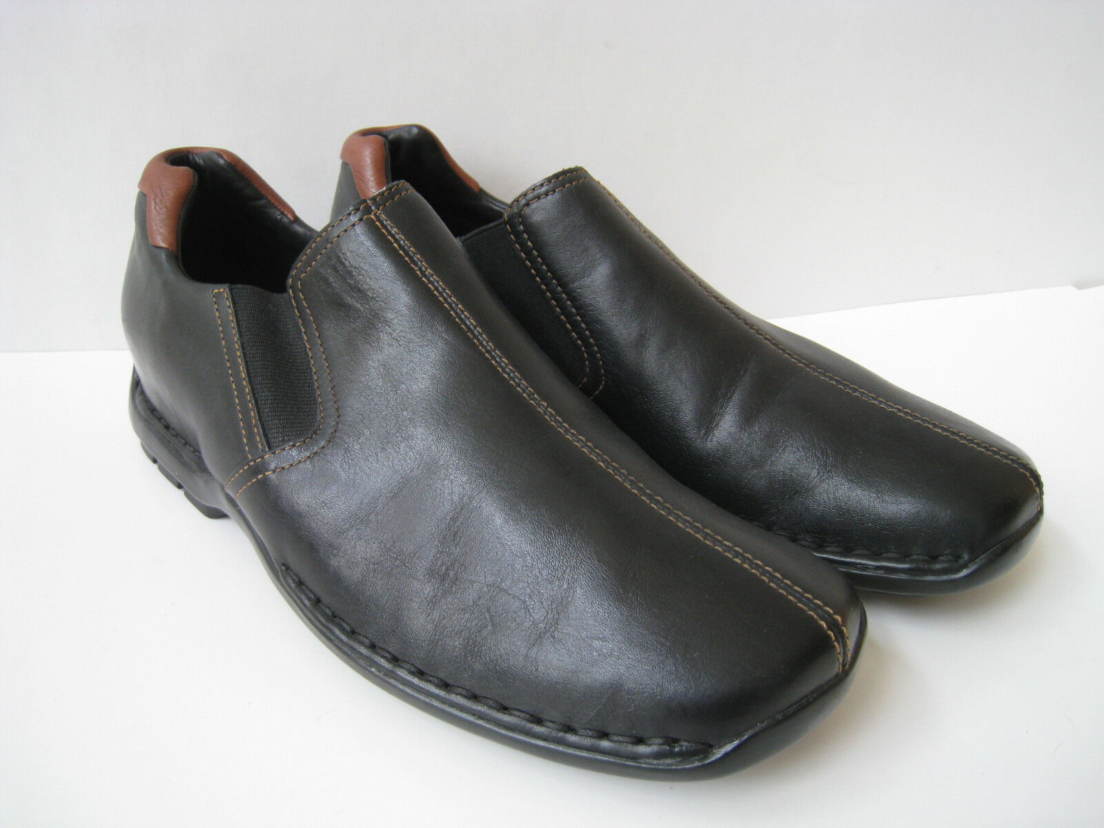 COLE HAAN BLACK LEATHER LOAFER MEN SIZE US 9.5 GREAT