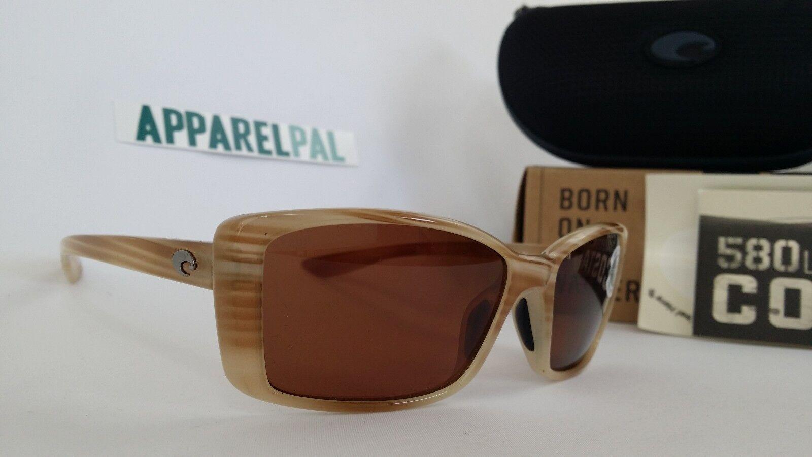 New Costa del Mar Pluma Polarized Sunglasses MorenaCopper 580P Wouomo