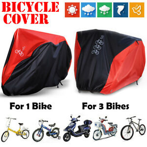 Oxford Single Triple Bicycle Bike Cycle Cover Waterproof Rain Storage Double