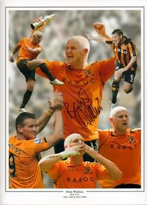 Firmato DEAN windass Hull City Autograph Foto Montage PLAY OFF FINALE 2008