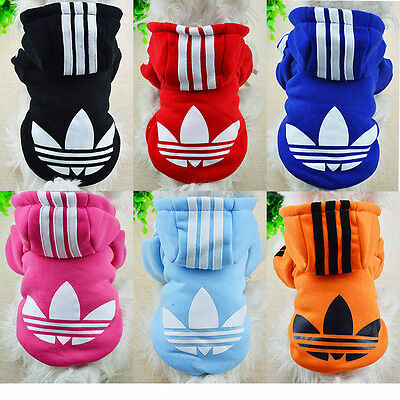 Winter Casual Adidog Pets Dog Clothes Warm Hoodie Coat Jacket Clothing Apparel