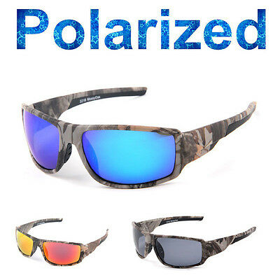 TR90 Sports Driving Fishing Ultralight Camouflage Frame Polarized Sunglasses