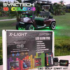 4pc X-LIGHT ALL COLOR LED GOLF CART KART LED UNDERBODY GLOW NEON 12 VOLT LIGHTS
