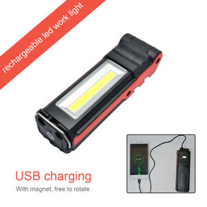Rechargeable-COB-5LED-Hand-Torch-Lamp-Magnetic-Inspection-Work-Light-Flexible-UK