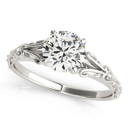 NEW LADIES 14k WHITE gold SEMI-MOUNT DIAMOND ROUND CUT ENGAGEMENT WEDDING RING