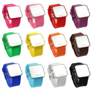Mens-Womens-Casual-LED-Calendar-Silicone-Mirror-Wrist-Watch-special-Watches-Gift