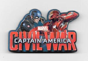 NEW Captain America Civil War Movie Crossbones Logo Chunky 3-D Die-Cut Magnet