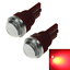 2x Red Car T10 W5W Roof Bulb License Plate Lamp Lens 2 5630 SMD LED Z20423