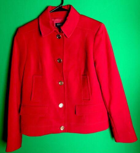 bottoni New in leggero rosso Blazer oro cappotto Jones 5 York Nwot con ExWSIq0q8w